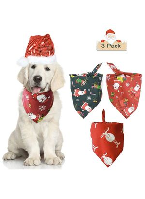 Dog Bandana Collar, Christmas Plaid Kerchiefs for Cats Dogs, Cotton Pet Scarfs Triangle Bibs Accessories for Christmas Halloween Thanksgiving Birthda for Sale in Plano, TX