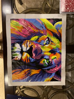 Lion original painting for Sale in Naperville, IL