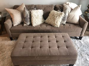 Couch and ottoman for Sale in Carlsbad, CA