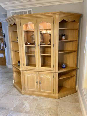 Solid wood china cabinet for Sale in Boca Raton, FL