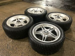 4 17 in 5x114.3 4x114.3 wheels rims and tires for Sale in Germantown, MD