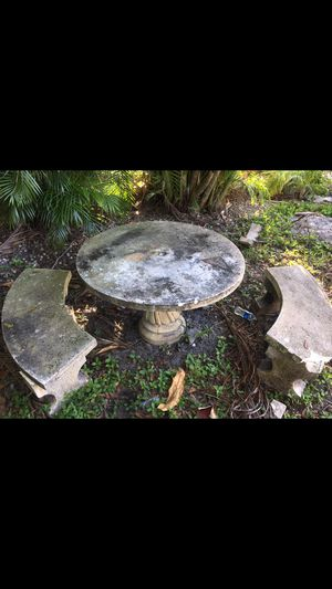 Concrete table and bench free for Sale in Hollywood, FL