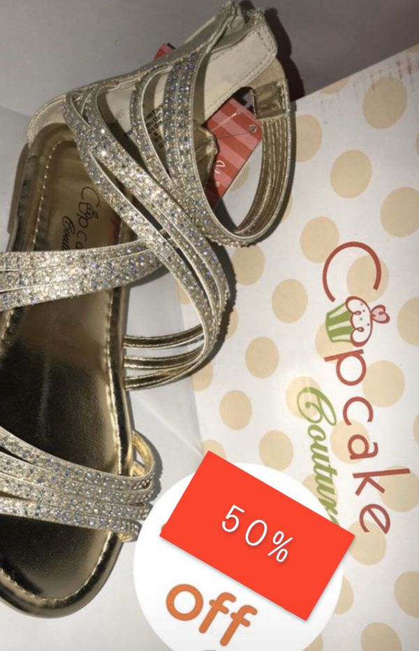 Cupcake couture sandals size 13.5 , 2 & 4