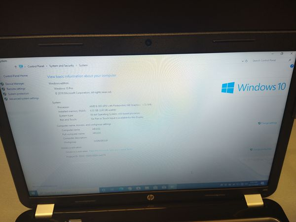 15' HP Laptop - Windows 10 - Office 2019 - 320GB HDD - 4GB Ram - Webcam and more...
