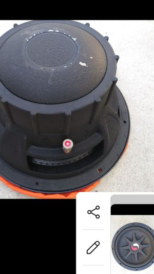 Og classic VERY RARE 10 inch massive kicker subwoofer this sub hits hard make sure if you buy get da windows tinted tints rear glass rv Tesla honda for Sale in Long Beach, CA