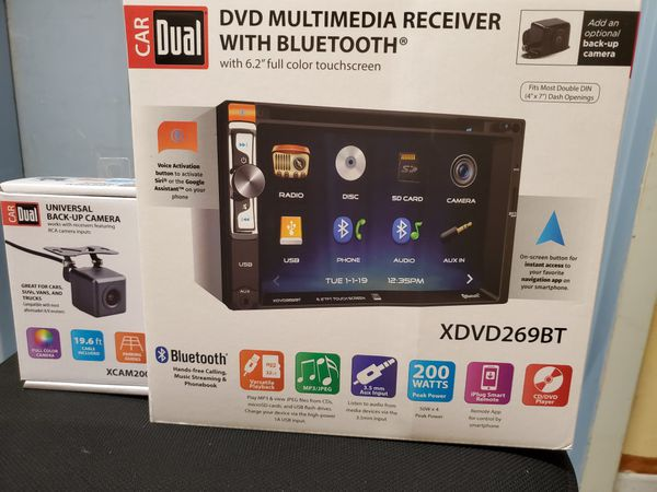 "NEW STEREO DVD MULTIMEDIA RECEIVER,MONITOR TOUCH SCREEN 6.2"",BLUETOOTH,MICROPHONE,AUX,USB,NAVIGATION APP CON SU CAMARA TRASERA APRUEBA DE AGUA"