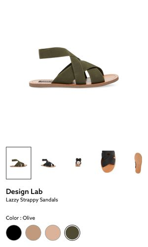 Design Lab Lazzy size 8 Olive Sandals for Sale in Laredo, TX