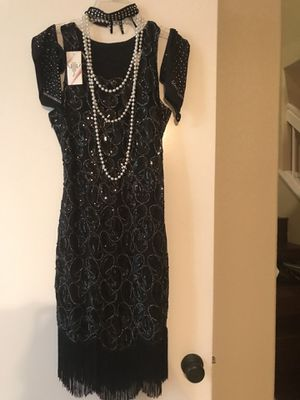 Halloween costume roaring 20s or Dress for roaring 20s party for Sale in Wildomar, CA