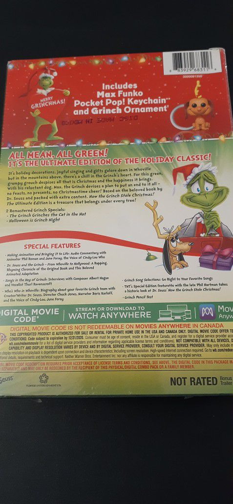 Dr. Seuss's HOW The GRINCH STOLE CHRISTMAS (DVD + Digital!) NEW! Holiday GIFT Set!