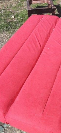 Works Excellent Up And Down Red Futon (Needs Full Size Sheet Or Upholstery) $20.00 Cash Only for Sale in Dallas,  TX