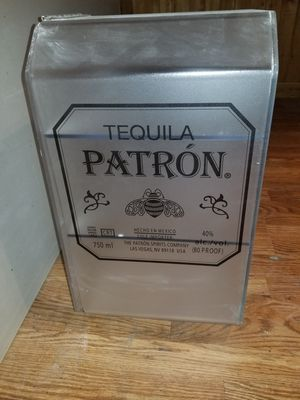 Nice frosted Patron tequila display case with 3 shelves for Sale in Durham, NC