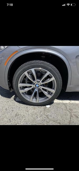 """20"""" rims tires set 5x120 for Sale in Hayward, CA"""