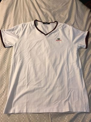 Near New V - Neck Mens Gucci Shirt Size Slim Fit Large for Sale in Sacramento, CA