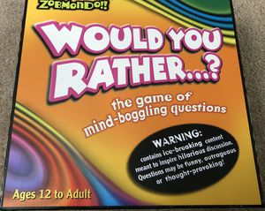 Would You Rather Board Game for Sale in San Antonio, TX
