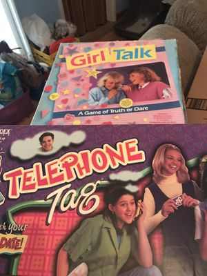 80's board games Telephone Tag and Girl Talk for Sale in Clovis, CA