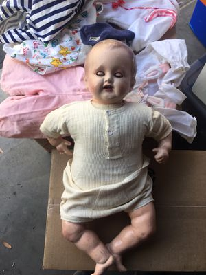 Vintage or antique doll. Bisque face eyes open and close for Sale in Mission Viejo, CA