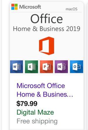 Microsoft office Hone & business 2019 for Sale in Halethorpe, MD