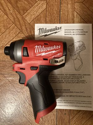 """Milwaukee. M12 FUEL Lithium-Ion 3-Speed Brushless Cordless 1/4""""Hex Impact Driver (Tool Only). 2553-20. for Sale in Brooklyn, NY"""