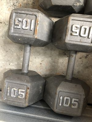 CAST IRON DUMBBELLS 105 LBS PAIR for Sale in Windsor Mill, MD
