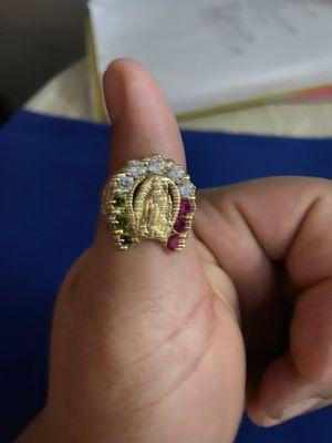 14k Virgen Mary ring size11 1/2 for Sale in Ellenton, FL