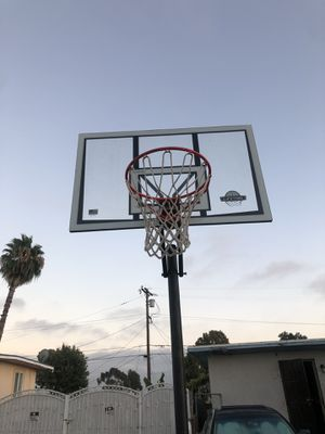 Life time basketball hoop had it for a year for Sale in San Diego, CA