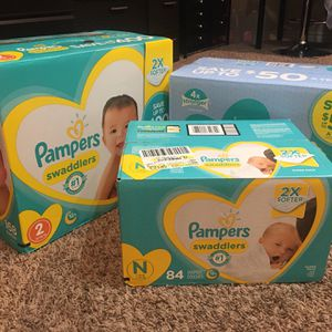 Pampers Diapers and Wipes for Sale in Fort Worth, TX