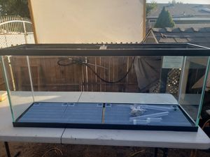 55 Gallon fish tank with accessories for Sale in Fontana, CA