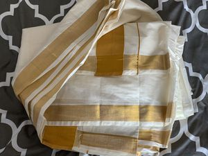 Beautiful gold and white Kerala style saree for Sale in Vienna, VA