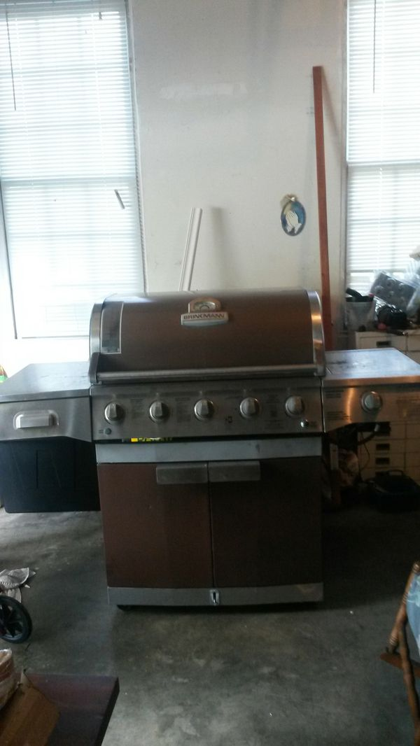Brinkman gas grill with side burner