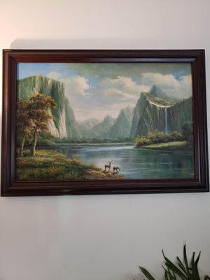 Framed oil painting on canvas for Sale in Auburn, WA