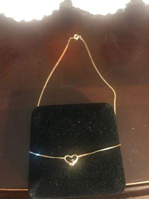 Cadena de corazón con diamantito for Sale in Carson, CA