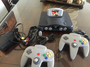 Nintendo 64 w Mario party 2 original Controllers and cables for Sale in National City, CA