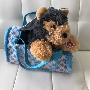 Play Right Puppy Dog Pet In Carrier Plush Animal Toy for Sale in Las Vegas, NV