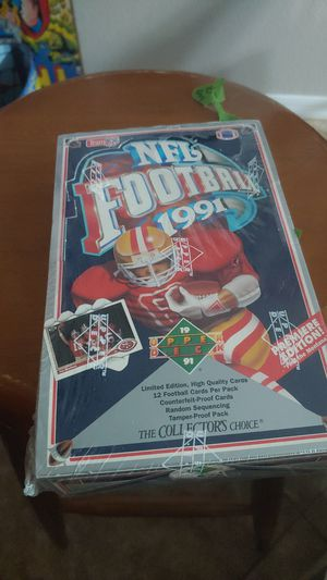 1991 Upper Deck football complete sealed box for Sale in Mesa, AZ