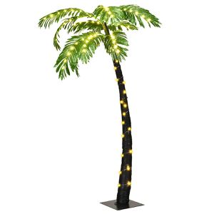 5 Ft Pre-lit Artificial Palm Tree Curve Trunk w/ Lights Home Pool Garden Decor Backyard BBQ Lighting For Indoor Outdoor Use for Sale in Fort Lauderdale, FL
