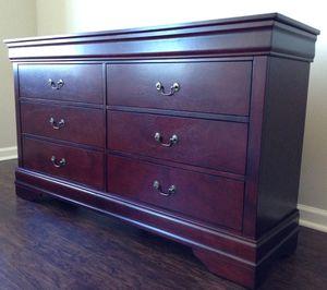 New Dark Cherry Dresser- 6 Drawers for Sale in Washington, DC