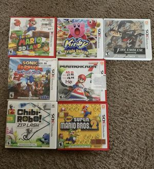 Nintendo 3ds games Mario mario kart sonic boom shattered crystals chi I robo fire emblem kirby for Sale in Marysville, WA