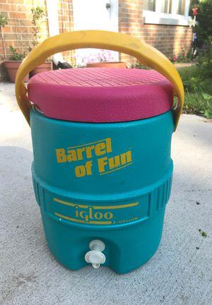 Retro Barrel of Fun Igloo Cooler for Sale in Bloomingdale, IL
