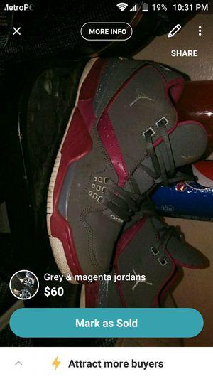 Grey & magenta Jordans size 7 for Sale in Sanger, CA