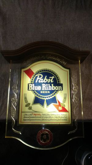 Pabst Blue Ribbon light-up sign for Sale for sale  Palmyra, NJ