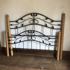 Queen Size Bed-frame and two mirrors $50.00 for all for Sale in Tully, NY