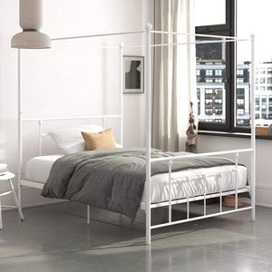Metal Canopy Bed Frame - Full Size (White) for Sale in Cleveland, OH