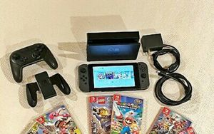 Like-new Nintendo switch system with 6 games for Sale in Gainesville, VA