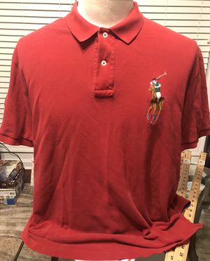 Polo Ralph Lauren Men's XL Short Sleeve Rugby Big Pony Polo Shirt Red #3 for Sale in Mableton, GA