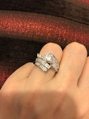 18K Gold plated Ring- Solitaire- Code Bulge/Prince CuT for Sale in Princeton, NJ