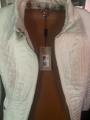 Authentic Brand New With Tags Small Burberry Brit White Jacket for Sale in Aurora, CO