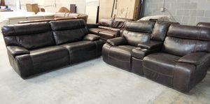 Barrington 2pc Italian leather sofa set for Sale in Decatur, GA