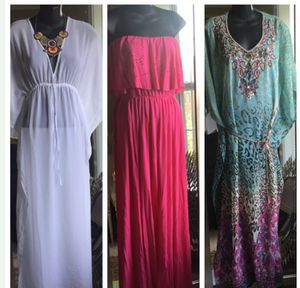 Lot of 3 med maxi dress cover ups for Sale in Fairfax, VA