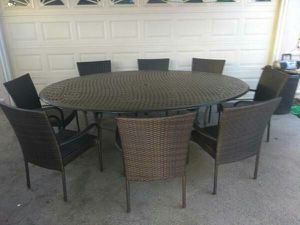 Outdoor patio furniture set patio table and chairs for Sale in Dallas, TX