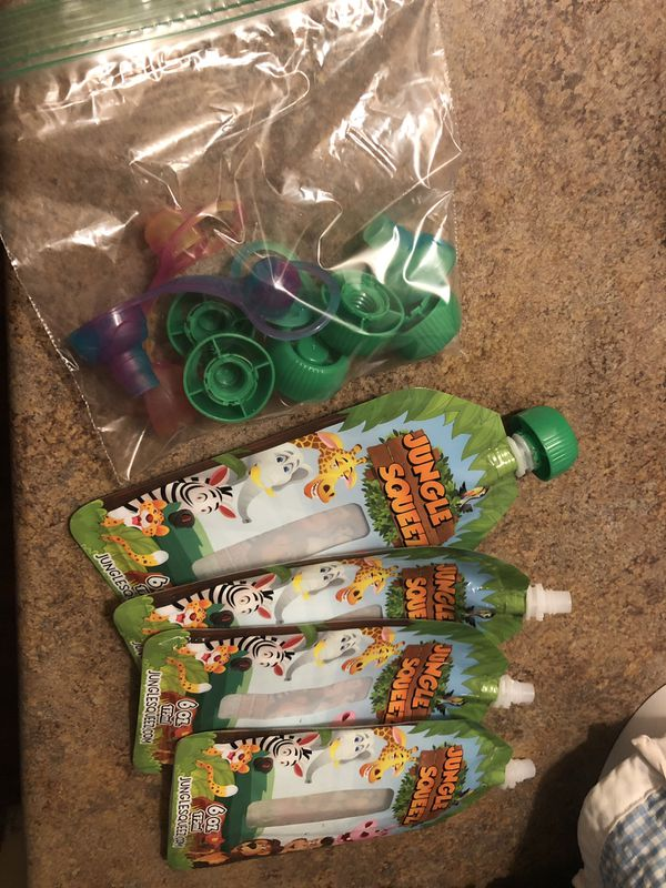 Jungle squeeze reusable baby food pouches